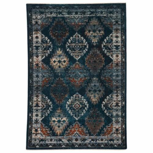 Vibe by Jaipur Living RUG146861 Lia Medallion Blue & Rust Runner Rug , 2 ft. 6 in. x 12 ft. Perspective: front