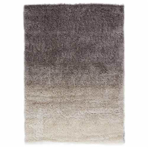 Jaipur Living RUG147443 5 ft. 3 in. x 7 ft. 6 in. Jola Ombre Area Rug, Gray & Cream Perspective: front