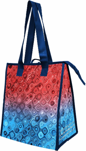 Earthwise Kroger Enterprise Insulated Bag - Red/Blue Perspective: front