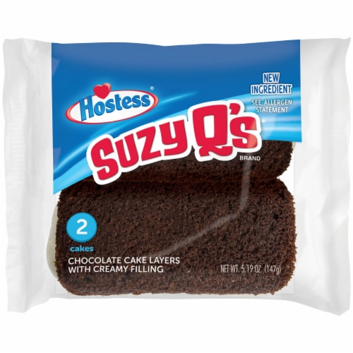 Hostess Suzy Q's Chocolate Cakes Perspective: front