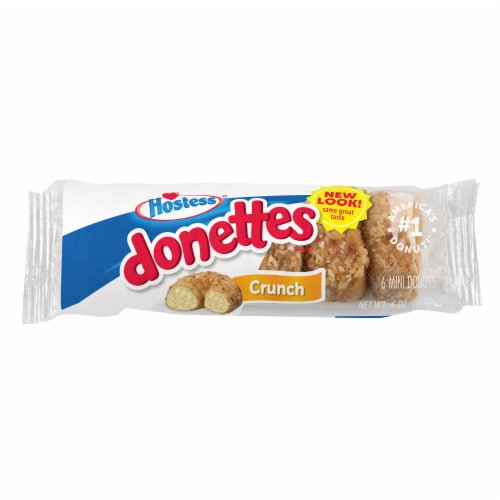 Hostess Single-Serve Crunch Donettes Donuts 6 Count Perspective: front
