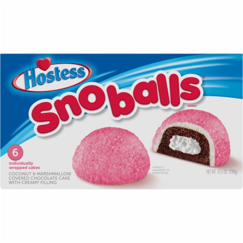 Hostess Snoballs 6 Count Perspective: front
