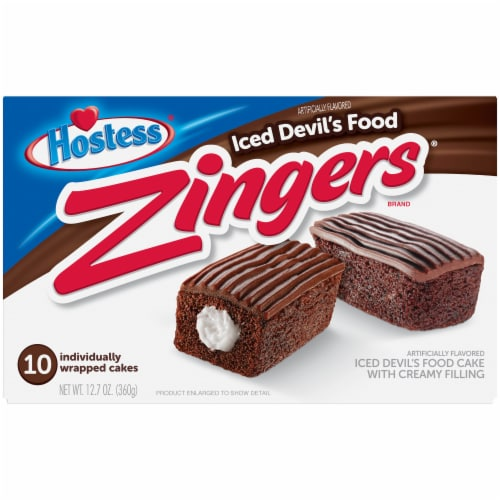 Hostess Devil's Food Zingers Perspective: front