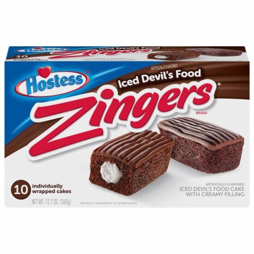Hostess Devil's Food Zingers 10 Count Perspective: front