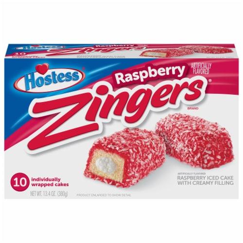 Hostess Raspberry Zingers Perspective: front