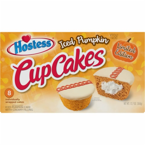 Hostess Iced Pumpkin Cupcakes Perspective: front