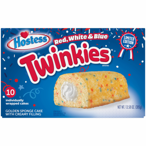 Hostess Red White & Blue Twinkies Perspective: front