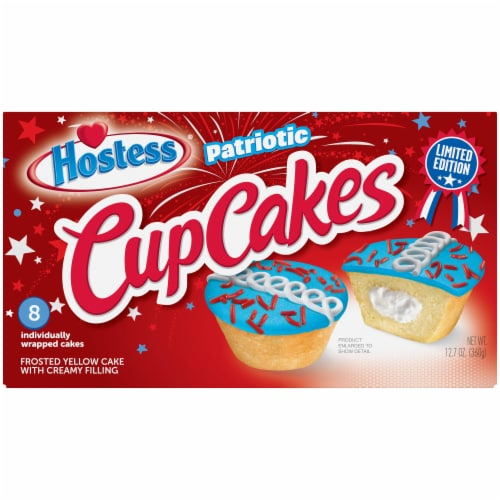 Hostess Star Spangled Cupcakes Perspective: front