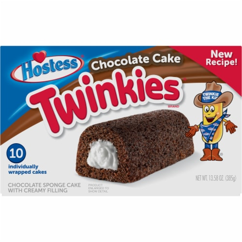 Hostess Chocolate Cake Twinkies Perspective: front