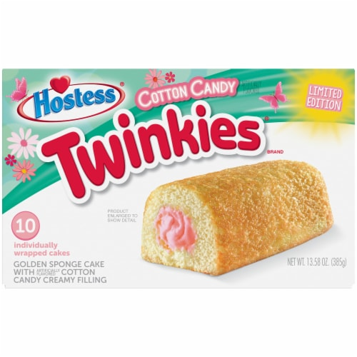 Hostess Cotton Candy Twinkies Perspective: front