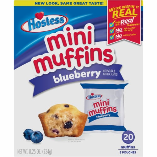 Hostess Blueberry Mini Muffins 20 Count Perspective: front