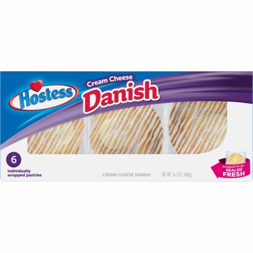 Hostess Cream Cheese Round Danish 6 Count Perspective: front