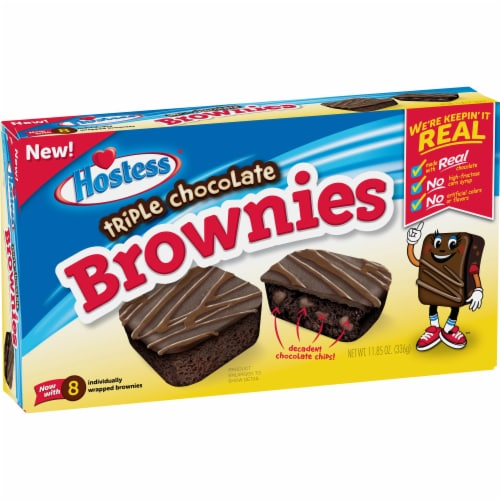 Hostess Triple Chocolate Brownies 8 Count Perspective: front