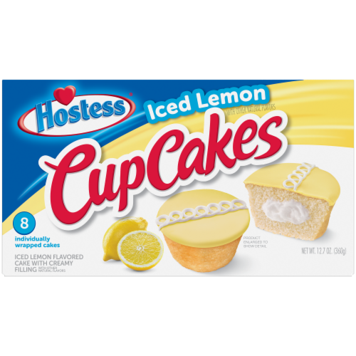 Hostess Iced Lemon CupCakes Perspective: front