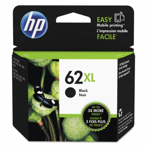 HP 62 XL Ink Cartridge - Black Perspective: front