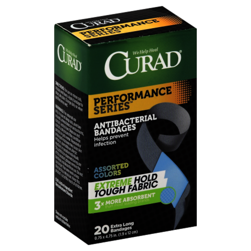 Curad Performance Series Extra Long Antibacterial Bandage Extreme Hold Perspective: front