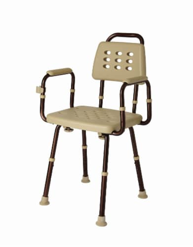 Medline Shower Chair with Back - Tan Perspective: front