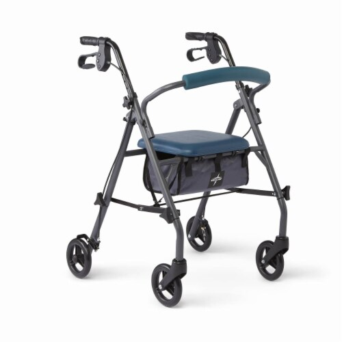 Medline Teal Knock-Down Rollator Perspective: front