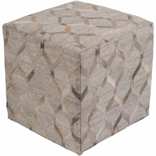 Surya MDPF003-181818 Medora Pouf - 18 x 18 x 18 in. Perspective: front