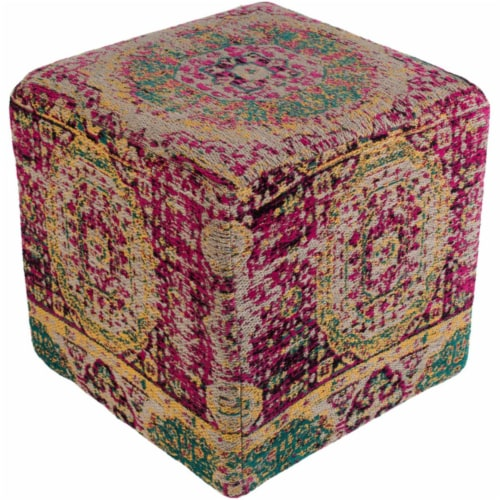 Surya AMPF004-181818 Amsterdam Pouf - 18 x 18 x 18 in. Perspective: front