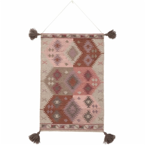 Surya DIA1007-2436 24 x 36 in. Adia Hand Woven Wall Hanging - 100 Percent Wool Perspective: front