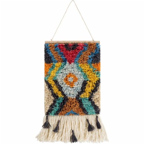 Surya SGO1002-2317 17 x 23 in. Santiago Hand Knotted Wall Hanging - 100 Percent Wool Perspective: front