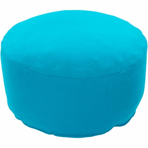 Surya SAPF003-171717 17 x 17 x 17 in. Shane Felted Pouf, Aqua Perspective: front