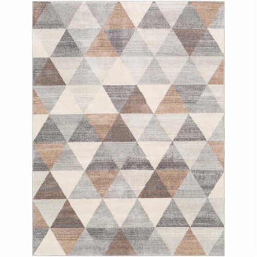 Surya ROM2303-679 6 ft. 7 in. x 9 ft. Roma Machine Woven Rug - 100 Percent Polypropylene Perspective: front