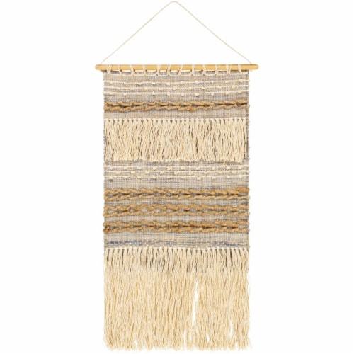 Surya YVA1000-2036 20 x 36 in. Yavan Hand Woven Wall Hanging - 100 Percent Jute Perspective: front