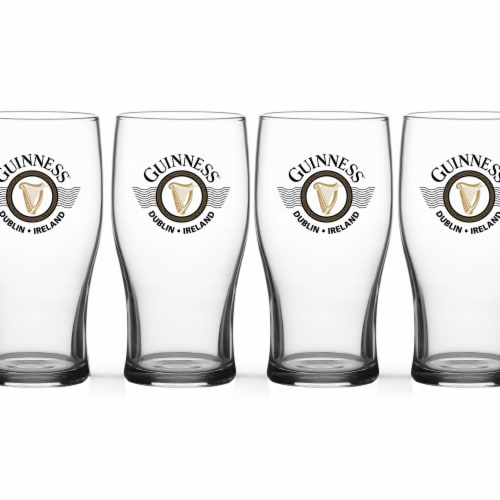Guinness Wings Tulip Pint Glass Perspective: front