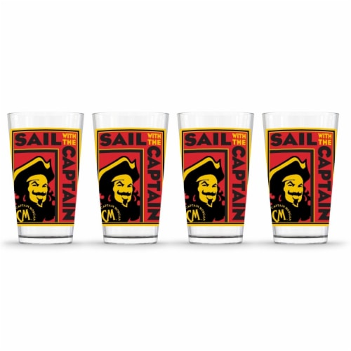 Captain Morgan 888568622656 Poster Pint Glass - Pack of 4 Perspective: front