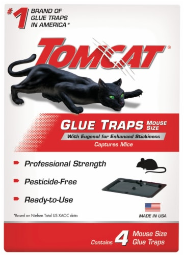 Tomcat Mouse Size Glue Traps 4 Pack Perspective: front