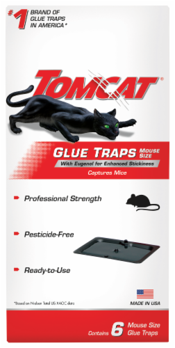 TOMCAT Glue Mouse Trap - Black Perspective: front
