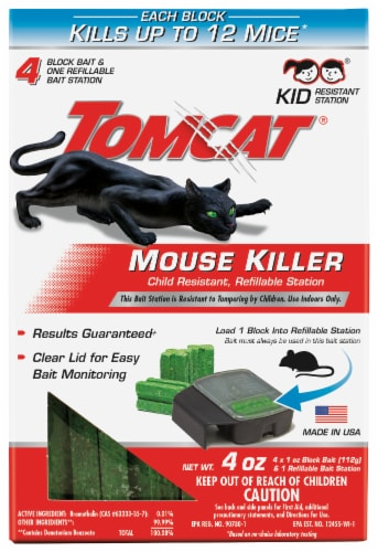 Tomcat® Mouse Killer Refillable Station Perspective: front