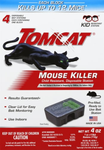 Tomcat® Mouse Killer Disposable Bait Stations Perspective: front