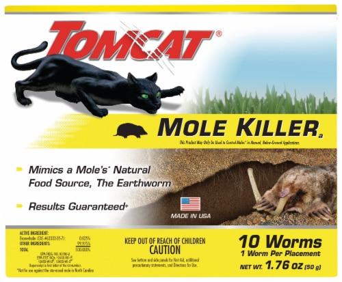 Tomcat® Mole Killer Worm 10 Count Perspective: front