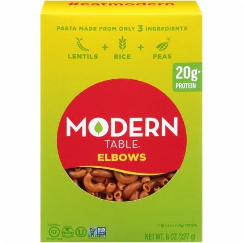 Modern Table Lentil Elbows Pasta Perspective: front