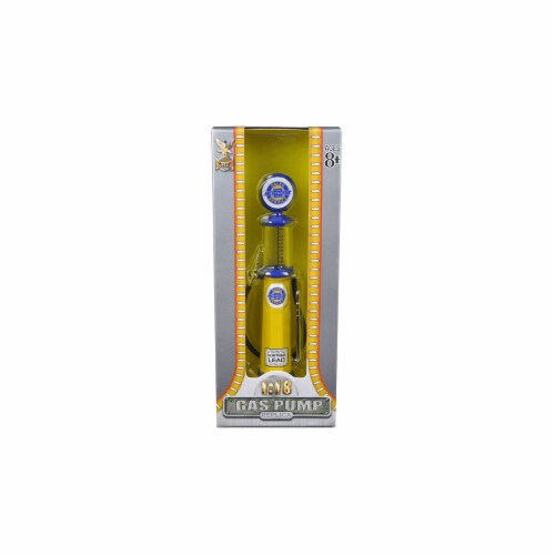 Road Signature 98642 Chevy Gasoline Vintage Gas Pump Cylinder 1-18 Diecast Replica Perspective: front