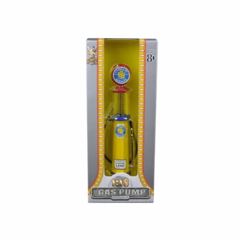 Road Signature 98692 Cadillac Gasoline Vintage Gas Pump Cylinder 1-18 Diecast Replica Perspective: front