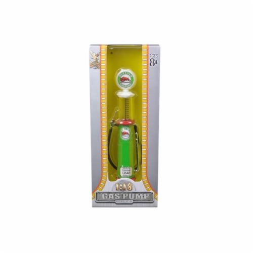 Road Signature YM98712 Buffalo Gasoline Vintage Gas Pump Cylinder 1-18 Diecast Replica Perspective: front