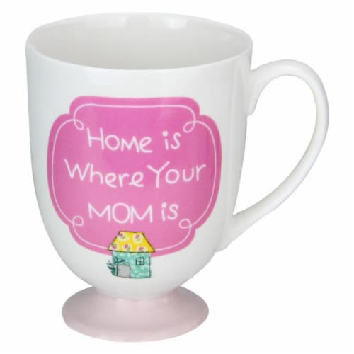 Avon 33537521 4.5 in. Home is Where Your Mom is One Footed Ceramic Mug Perspective: front