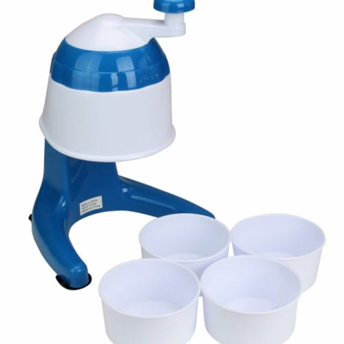 Avon 33537532 11 in. Snow Cone Maker with Cups - Blue & White Perspective: front