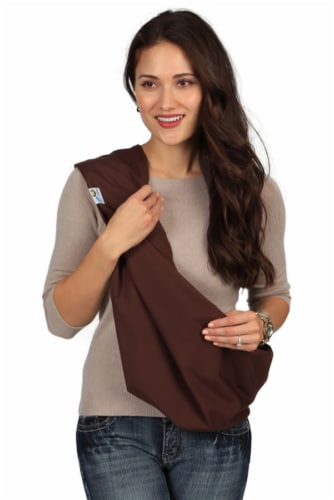 HugaMonkey Baby Sling Carrier for Newborn Babies, Infants and Toddlers - Brown, Extra Large Perspective: front