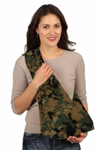 HugaMonkey Camouflage Green and Black Military Baby Sling - Extra Large Perspective: front