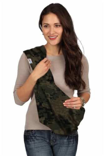 HugaMonkey Camouflage Dark Green Military Infant Baby Soft Carrier Sling - Small Perspective: front