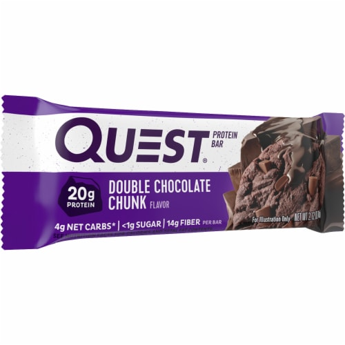 Quest Double Chocolate Chunk Protein Bar Perspective: front
