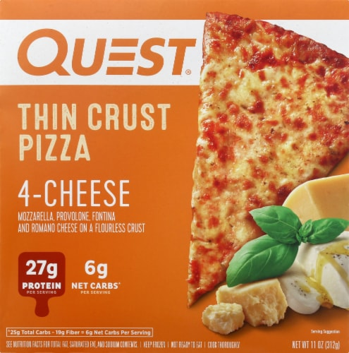 Quest Thin Crust 4-Cheese Pizza Perspective: front