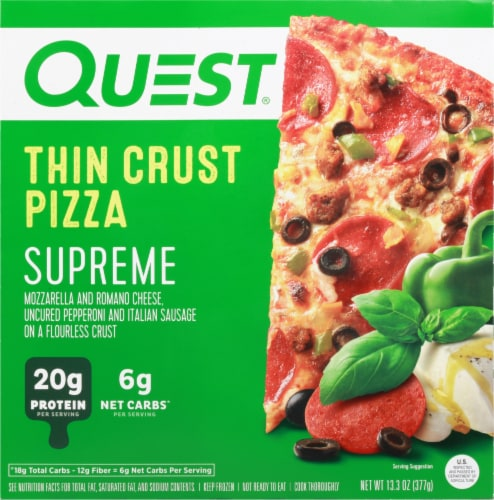 Quest Thin Crust Supreme Pizza Perspective: front