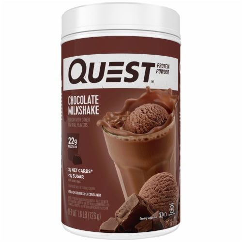 Quest Chocolate Milkshake Flavored Protein Powder Perspective: front