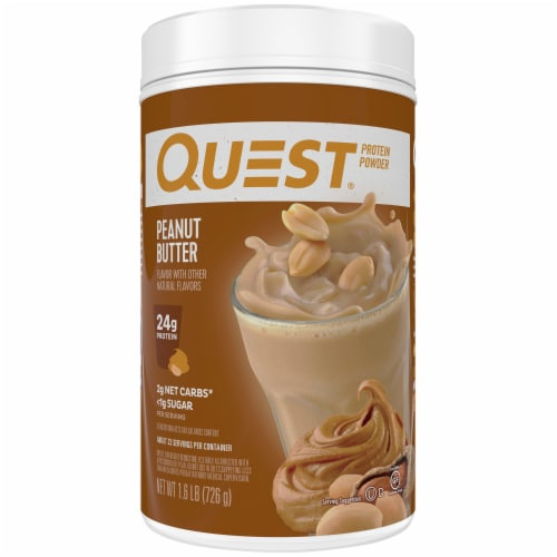 Quest Peanut Butter Flavored Protein Powder Perspective: front